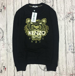 Felpe Designer manica lunga T-shirt per uomo Tigre Ricamo Hoodeis Marca lLetter Top Donna Autunno Primavera Taglia S-2XL supplier tiger long sleeves t shirt da maglietta manica lunga tigre fornitori