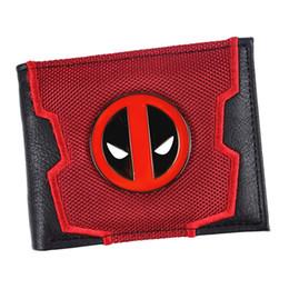 2019 designs de portefeuille cool Nouvelle arrivée Marvel Deadpool / Captain America Bi-Fold portefeuille cool portefeuilles hommes portefeuilles # 303477 designs de portefeuille cool pas cher
