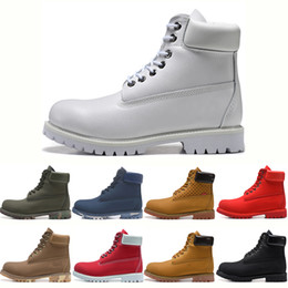 Top quality Winter Triple Black White Boots for men Military Women Chestnut Camo leather ankle Boot sports Womens Winter Boots sneakers