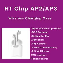GPS Rename AP2 AP3 Mini TWS Bluetooth Earbuds H1 de carregamento sem fio Caso Air 2 3 Pro In-Ear Detecção Pods PK i200 i10000 de Fornecedores de venda por atacado de iphone de maçã