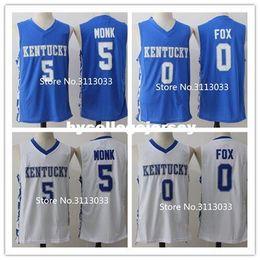 16b71905c45e Malik Monk  5 De Aaron Fox  0 Kentucky Wildcats College Basketball Jersey  Embroidery Stitched XS-XXL vest Jerseys Ncaa