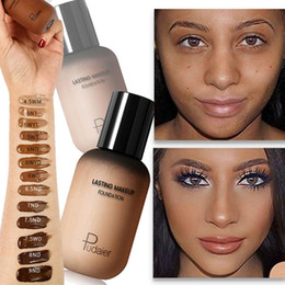 Maquillaje de piel oscura online-Face Foundation Cream Corrector Cobertura completa Base mate Maquillaje profesional Corrector de tono de piel para personas negras de piel oscura