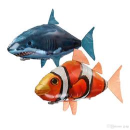 aereo remoto per i bambini Sconti Giocattoli di squalo telecomandati Aria che nuota pesce Infrarossi RC Volare Air Balloons Nemo Pesce pagliaccio Telecomando AirPlan Bambini Giocattoli