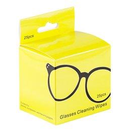 2019 влажные салфетки для очков 25 шт объектив объектива камеры очки салфетки Towelette Cleaner очистки клавиатуры предварительно увлажненный