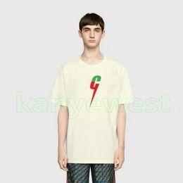 Moda oversize on-line-19ss de luxo europa de alta qualidade dos homens cor carta impressão t camisa de skate oversize t-shirt designer de moda mulheres t camisas casual tee