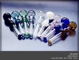 Calabaza de vidrio online-QBsomk El más nuevo Calabash Glass Oil Burner Pipes Tubo cambiante de color Mini Oil Burner Recycler soplado a mano El mejor quemador de vidrio