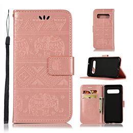 Etui portefeuille en cuir avec sangle d'éléphant pour Samsung Galaxy S10E S10 PLUS MOTO G7 E5 JOUER GO Huawei P30 PRO Y9 2019 Carte d'identité pour support de peau 2PCS ? partir de fabricateur