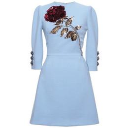 Deutschland Abendkleid Mantel Blau Pailletten Applikationen Kristalle Kurzes Kleid Langarm Yousef Aljasmi Langes Kleid Mantel Versorgung