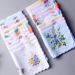 12pcs fiori donna fazzoletto tessuto VINTAGE fazzoletti handkerchiefs
