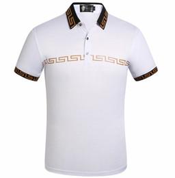 Tiendas de camisas online-Para los hombres Diseñador POLO Marca Diseñador de los hombres Polos Diseño de bordado clásico Hombre de algodón Camisa de manga corta Actividad de la tienda Precio bajo