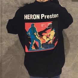 19SS HERON PRESTON EN VOGUE Paris печатных капюшоном улица пара пуловер с длинным рукавом Осень Зима толстовки свитер Hflswy244 от