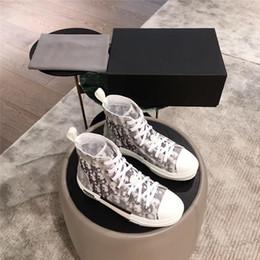 2019 canal azul quente B23 High-Top Sneakers em Oblíqua Mens Designer Sneaker Womens Trainer Sapatos de Qualidade Superior Com Tamanho Da Caixa Original 35-44