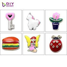 charm packs baby Rabatt 10pcs / lot Mischungs-Art-Floating-Anhänger DIY Charme Forglass Locket Anhänger LSFC555-609