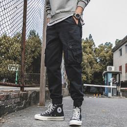 Jungen Kleidung Männer Cargo Hosen 2019 Marke Männlichen Lange Hosen Männer Hosen Arbeit Tragen Hohe Qualität Baumwolle Tactical Military Schwarz Streetwear 1670