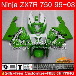 zx7r 1997 verde Desconto Corpo Para KAWASAKI NINJA ZX-ZX ZX-7R ZX750 ZX 7R 96 97 98 99 28HC. ZX 7 R ZX 750 ZX7R 1996 1997 1998 1999 2000 Kit de Carenagem Preto Verde Quente