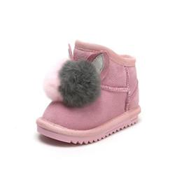 Hot Baby Girls Botas de invierno Zapatos de los niños Kids Keeping Warm Baby Snow Boots Zapatos de moda Felpa Niñas pequeñas desde fabricantes