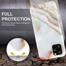 je suis pare-chocs Promotion iPhone 11 Pro Case Pierre De Marbre Texture Brillant Conception Mince Antichoc Couverture de Téléphone Flexible Clear TPU Bumper Étui Souple pour iPhone 11pro 5.8 i