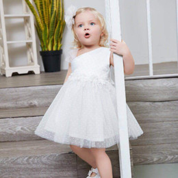 Argentina Vestido de noche para niños Vestido de noche para niñas Marca Tulle Encaje blanco Infant Toddler Ropa para niños Verano Concurso Flor Bodas Vestidos de fiesta supplier summer floral dresses for weddings Suministro