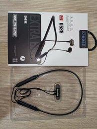 Sac bluetooth en Ligne-Ecouteurs sport sans fil Bluetooth 4.2 Ecouteurs intra-auriculaires Casques Ecouteurs W Mic avec sac
