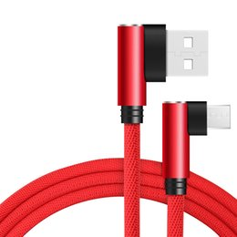 Mikro USB Kablosu 2A Hızlı Şarj USB Kablosu Suntaiho 90 derece dirsek Naylon Örgülü Veri Kablosu Samsung / Sony / Xiaomi Android Telefon nereden