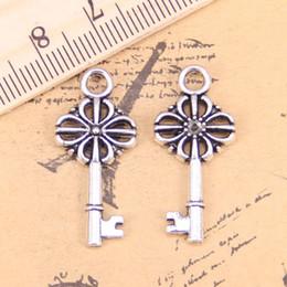 Free Ship 100PCS Tibetan Silver Key Charms Pendant For Bracelet 16x6mm