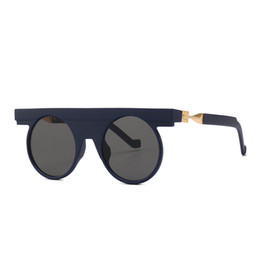 Wickeln sonnenbrille online-Runde Sonnenbrille für Frauen Metall Gothic Steampunk Wrap Brille Shades Marke Designer coole Sonnenbrille Spiegel UV400