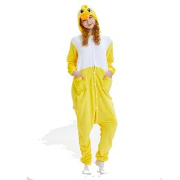 2020 gelb nightgowns Kingurumi Unicorn Animals Yellow duck Pyjamas für Frauen Winter Warm Female Nightgown Onesies Beliebte 2019 New Stlye rabatt gelb nightgowns