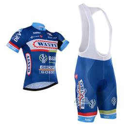 vetement velo bleu femme Promotion 2017 Vente Chaude Maillots De Cyclisme Bleu De Cyclisme Maillot À Manches Courtes Vélo Usure Bib Pantalon Taille Xs -4xl Vélo Vêtements Pour Hommes Femmes