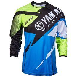 dh t shirts Rebajas 2019 Nuevo Moto GP para YAMAHA Motocross Jersey Mountain Honda Motocross Jersey BMX DH MTB transpiración YAMAHA Camiseta DDF