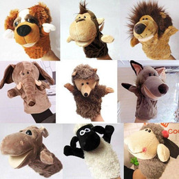 Belleza Cute Cartoon Animal Doll Kids Glove Hand Puppet Soft Plush Toys Story Telling desde fabricantes
