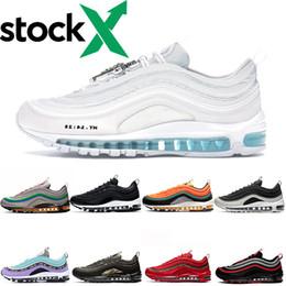 Großhandel Nike Air Max 97 Airmax 97 Shoes Designer Haben Einen Schönen Tag Kissen Spring Yellow Gym Rot Damen Herren Laufschuhe Sportschuhe Panda