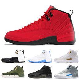 2019 caixa de sapatos gama Com caixa de alta qualidade 12 s tênis de basquete para homens preto inverno WNTR ginásio jogo de gripe vermelho GAMMA AZUL táxi o mestre homens tênis esportivos desconto caixa de sapatos gama