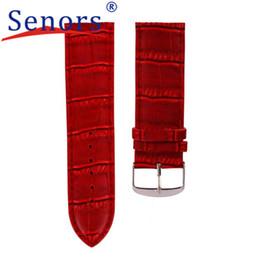 Швейцарские часы онлайн-14mm High Quality Soft Sweatband Leather Strap Steel Buckle Wrist Watch Band DEC21