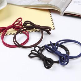 accessori per capelli corea del sud Sconti Gli accessori della corda della testa della Corea del sud all'ingrosso l'elastico fatto a mano legano gli ornamenti di cuoio dell'anello dei capelli della stringa di arco