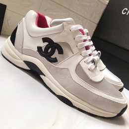genuine ch leather Promo Codes - Womens Shoes Sneakers High Quality Zapatos de mujer Fashion Shoes Womens Ch@neI Chaussures de femme Women Shoes Sports Footwears Breathable
