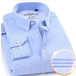 más el tamaño de camisas de oxford Rebajas 2019 Cálido invierno camisas de trabajo para hombre camisa de manga larga de los hombres sociales vestido oxford camisas masculinas más el tamaño 4XL camisa masculina