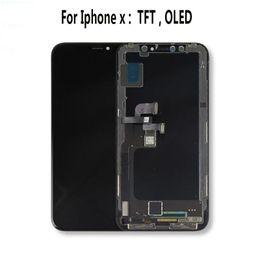 iphone vidrio frontal dorado Rebajas Calidad superior para iPhone X oled Pantalla LCD para iPhone XS AMOLED oled OEM Pantalla táctil de calidad original con piezas de ensamblaje digitalizador Negro