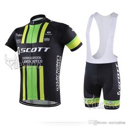 6xl cycling jerseys Promo Codes - 2018 SCOTT Cycling Jersey short sleeve bib pants sets Quick Dry Breathable GEL PAD pro team men Cycling Clothing Size XXS-6XL C0225