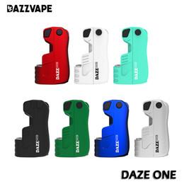 Vá um on-line-Authentic Daze One Dazzvape Bateria 550 mAh Pré-aqueça VV Vape E Cig Caixa Mod Fit Cartuchos de Óleo Grosso Urso Sorte 100% Original