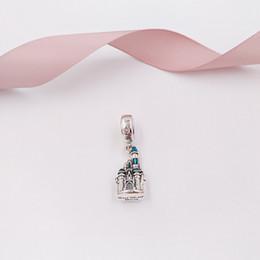 Aschenputtel schmuck perlen online-Authentische 925 Sterling Silber Perlen Cinderella Castle Charm Charms passt europäischen Pandora Style Schmuck Armbänder Halskette