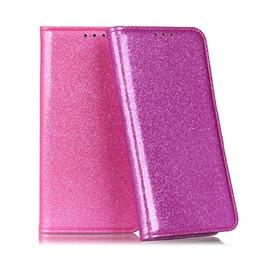carteira de telefone rosa Desconto Glitter wallet case para iphone xs max xr pu capa de couro flip para iphone 2019 6 7 8 plus phone cases meninas rosa