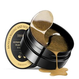 Goldene augenmaske online-Black Pearl Golden Collagen Kristallaugenmaske 60 Stück Ageless Eye Bags Augenringe Puffy Eyes Care Pads Patches Gel