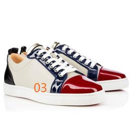 2019 Prix de gros Rouge Semelle Bas Baskets Basses Junior Blanc Blanc Noir En Cuir Véritable Femmes Hommes Bas Rouge Chaussures Mode Casual Chaussures ? partir de fabricateur