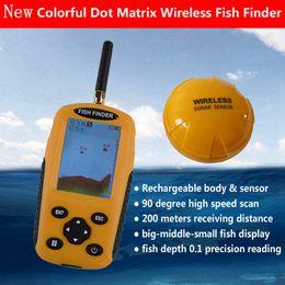 localizador de pesca sonar portátil Desconto Inteligente Portátil Profundidade Fish Finder com 200 M Sem Fio Sensor Sonar Sonar Soundfinder para Lake Sea Fishing Finder