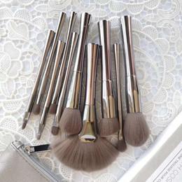 espelhos de fumaça Desconto Hot Cosmetics SMOKE 'N ESPELHOS 10 peças conjunto de escova com saco cosmético Kits de Escova de Maquiagem Profissional