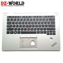 wc cover Rebajas Teclado retroiluminado de EE. UU. Panel nuevo / original Bisel Reposamanos C para teclado Thinkpad X1 Yoga 2nd sin Touchpad 01LV008 01LV088 01LV048 01LV128