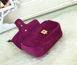 hollowed out bags Coupons - Women Bags New Designer Shoulder Bags quality Velvet Chain Messenger Bag Crossbody Bags high qualityr G Bag Sac A Main