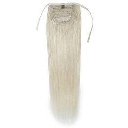 2019 cheveux européens vierges de qualité Queue de cheval européenne blonde haute qualité cheveux remy, DIVA vierge humaine s'enroule autour de clip en postiche queue de cheval blonde miel blanc promotion cheveux européens vierges de qualité