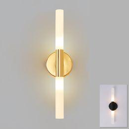 Tubo de metal moderno tubo hacia abajo LED lámpara de pared aplique de luz Dormitorio vestíbulo baño sala de baño baño lámpara de pared lámpara de luz LED desde fabricantes