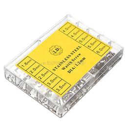 Микро-наборы инструментов онлайн-700pcs 1.6-6.0mm из нержавеющей стали Комплект болтов для Micro Eyeglass Смотреть Инструменты для ремонта